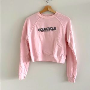 SOUL by Soulcycle Pink Cropped Crewneck Sweater